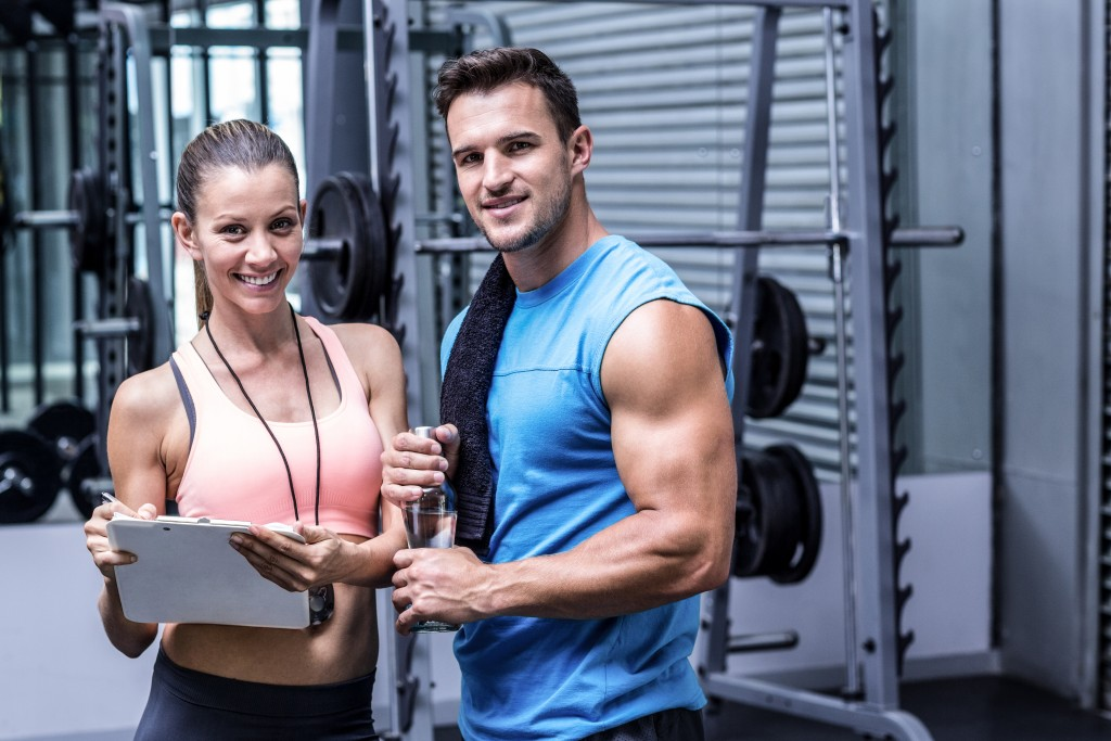 Fitness trainers at a gym