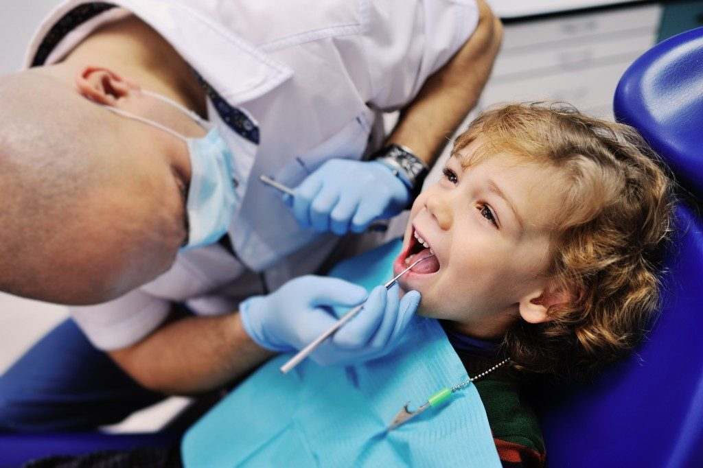 young boy at the dental clinic