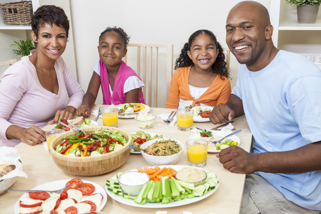 family eating healthy